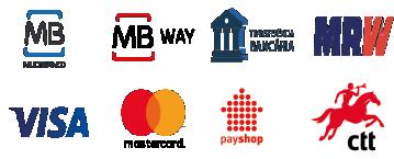 metodo de pagamento e trasnporte